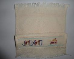 bordado em toalhinha em ponto cruz jo�o
