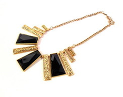 Maxi Colar Gold Black