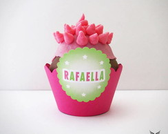 Forminha de Cupcake Doce Jardim