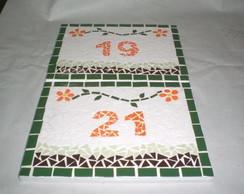 Mosaico de azulejo sobre placa cer�mica