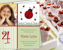 Convite Infantil Joaninha