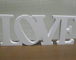 LOVE em madeira