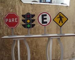 Placas de transito mdf
