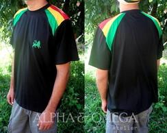 T-shirt Reggae Pedra PRETA