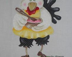 Pano de prato Galinha cozinheira