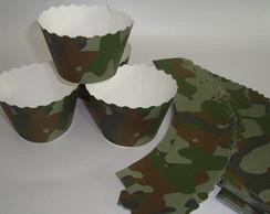 Wrappers para cupcake camuflado