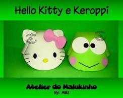 Chapeuzinhos Hello Kitty e Keroppi