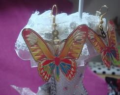 Lindo brinco dourado borboleta
