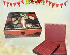 Caixa de bijuterias com foto