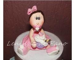 Topo de bolo boneca