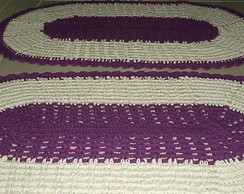 tapetes de croch� oval