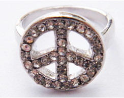 Anel Peace Strass