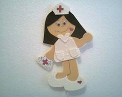 Enfermeira, Centro de Mesa,em eva.