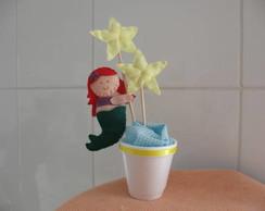 Centro de mesa Princesa Ariel - Sereia
