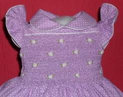 vestido poazinho lilas