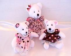 Kit ursas Rosa e Marrom (M e P)
