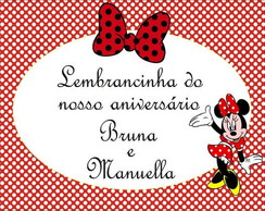 Tag Minnie Vermelha