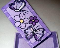 Borboletas e Flores - Patchwork Embutido