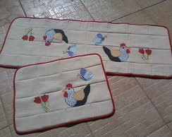 Conjunto de tapetes para cozinha