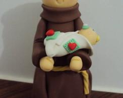 Topo bolo Santo Ant�nio de biscuit