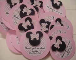 Tag para lembrancinhas Minnie Rosa
