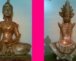 Deuses indianos em gesso