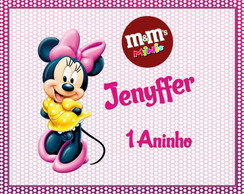 R�tulo De Mini MM - Minnie