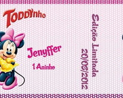 R�tulo De Toddynho - Minnie