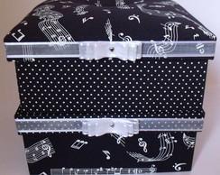 Kit de caixas estampa de m�sica