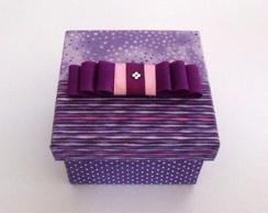 Mini Caixa de Tecido lil�s