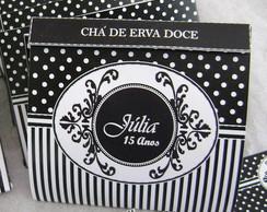 Tarja Ch� para mesas de caf�: Po� preto