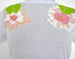 Camiseta - Flores Rosa