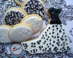 Cookies Casamento Black and White