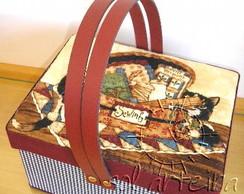 Caixa de Costura em Tecido importado