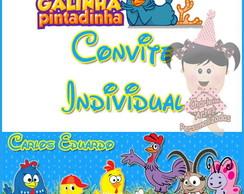 Convite individual Da Galinha Pintadinha