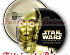 BOTON 2,5cm C-3PO STAR WARS