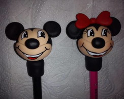Ponteira l�pis minnie e mickey