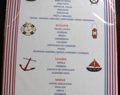 Card�pio Personalizado Marinheiro