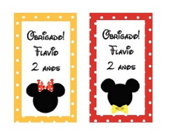 Tag adesivada Mickey e/ou Minnie