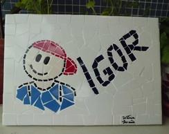 Placa Em Mosaico Com Nome Personalizad