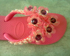 chinelo 6 flores