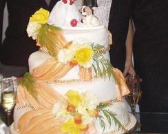 bolo de casamento c/ pasta americana
