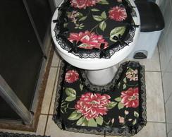 Kit tr�s pe�as para banheiro
