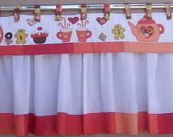 Cortina de Cozinha Vermelha