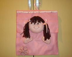 Porta calcinha menininha com cabide