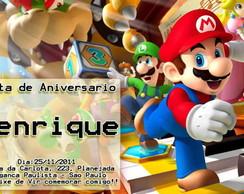 Convite Super Mario