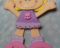 Caderno decorado menina rosa e lil�s