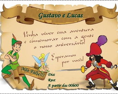 Convite do Peter Pan