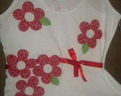 Camisetas Patch Aplique - flores 1