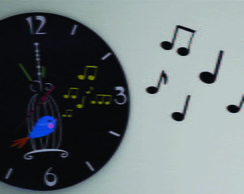 Passarinho Notas musicais